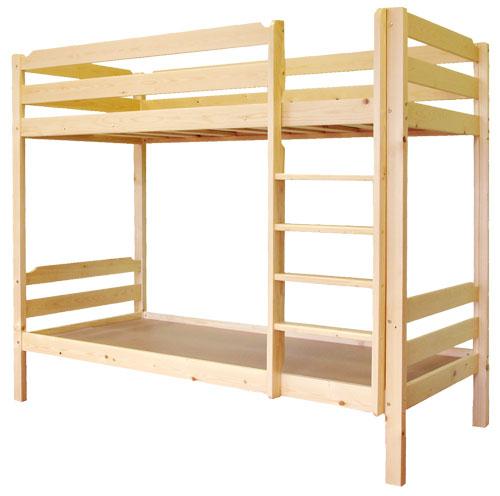 Двухъярусные кровати с боковой вертикальной лестницей