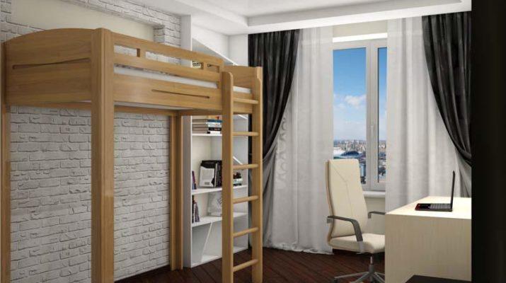 Кровать чердак в стиле лофт