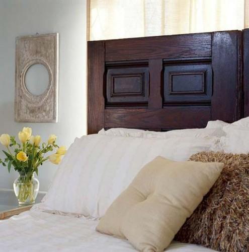 Деревянное изголовье для двуспальной кровати