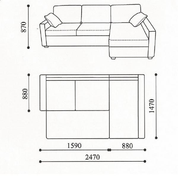Схема небольшого дивана