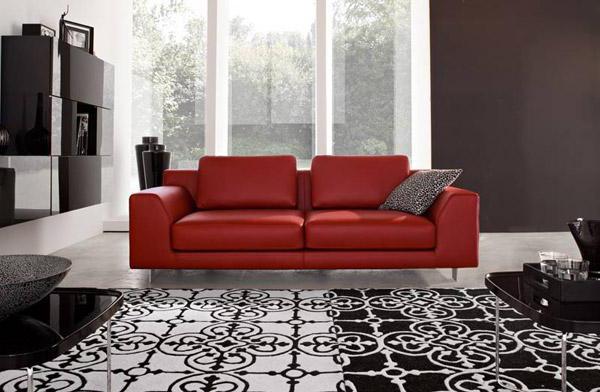 Красный является одним из главных интерьерных цветов