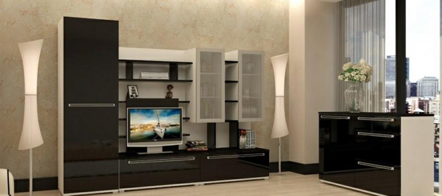 современные модульные стенки в гостиную модные направления формы