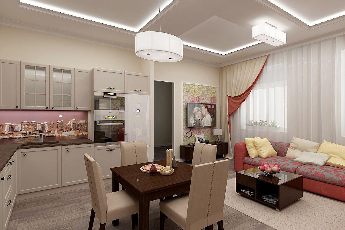 кухня объединенная с гостиной фото дизайн правило
