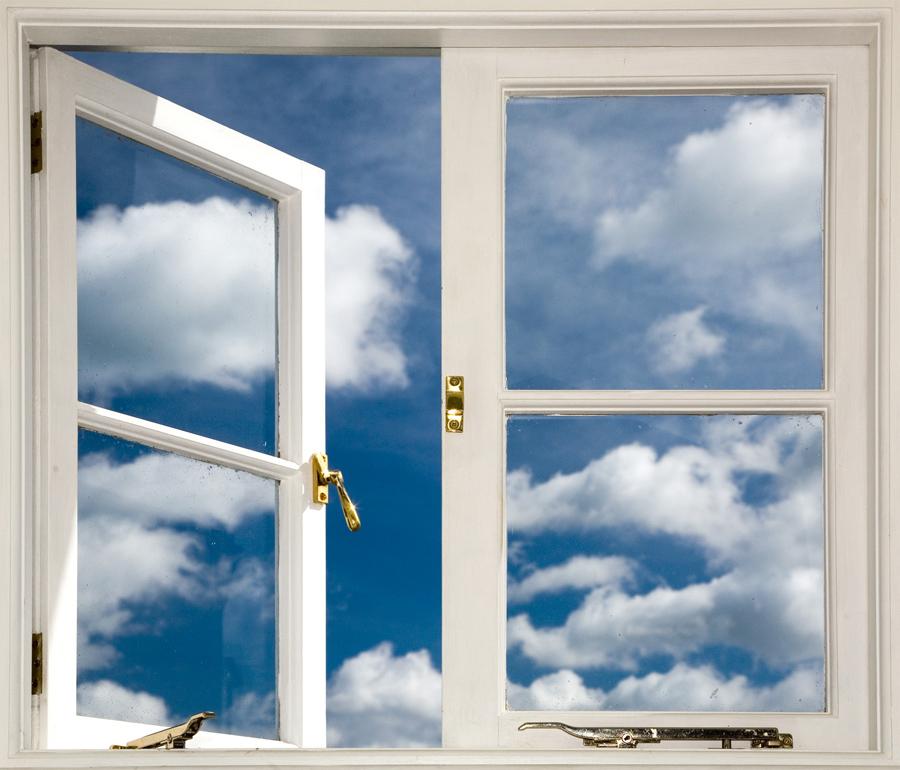 Картинка открыто окно