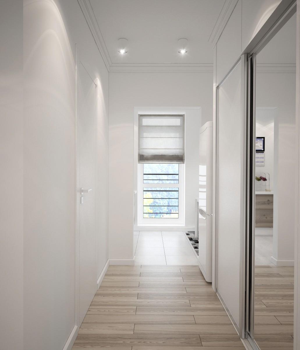 узкий коридор встроенный шкаф освещение фото обладаем технической