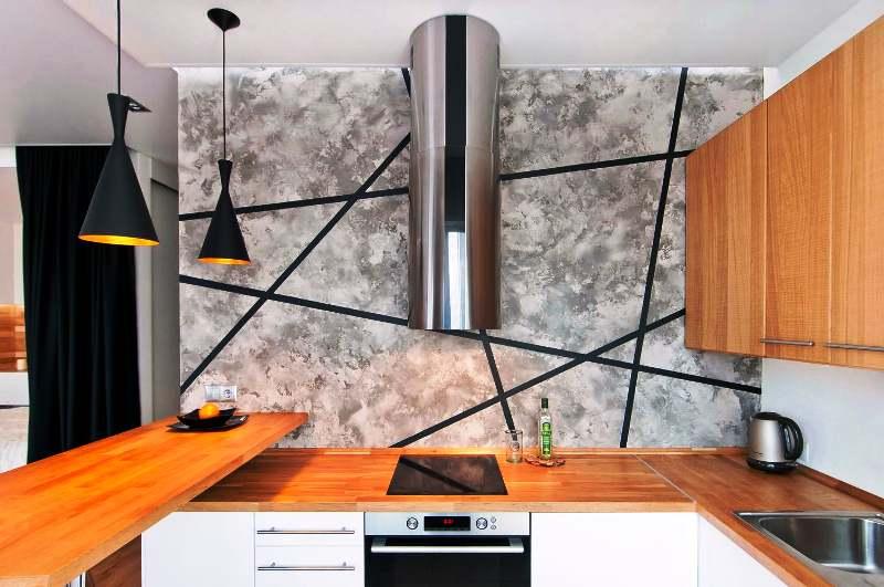 дизайн проекты студии гостинной и кухни