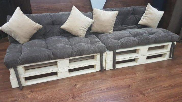 Мягкие аксессуары (матрасы и подушки) для мебели из поддонов