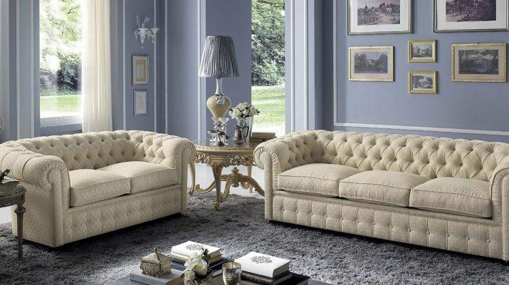 Современный диван Честерфилд