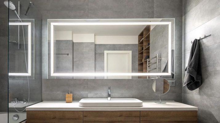 Как правильно выбрать большое зеркало в ванную комнату