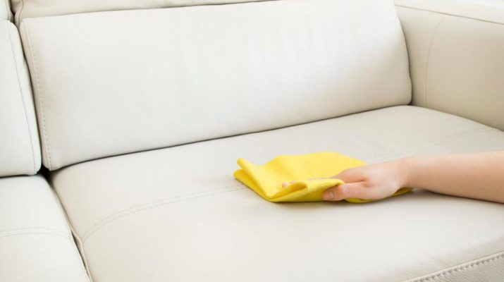 Чем чистить кожаный диван
