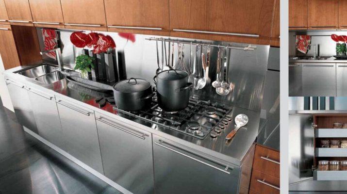 Элементы кухни из нержавеющей стали